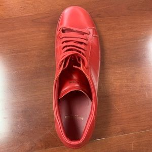 Saint laurent Red Leather Low Cut Size 14